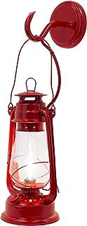 Rustic Lantern Wall Mounted Light - Large Red