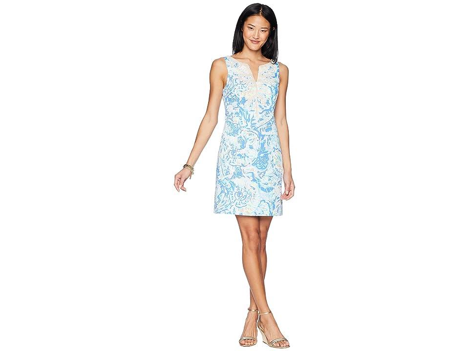 Lilly Pulitzer Gabby Shift Dress (Bennet Blue Salty Seas) Women
