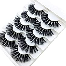 New 5 Pairs Mink Eyelashes 3D False Lashes Thick Crisscross Makeup Eyelash Extension Natural Volume Soft Fake Eye Lashes,5Pairs,Jkx80