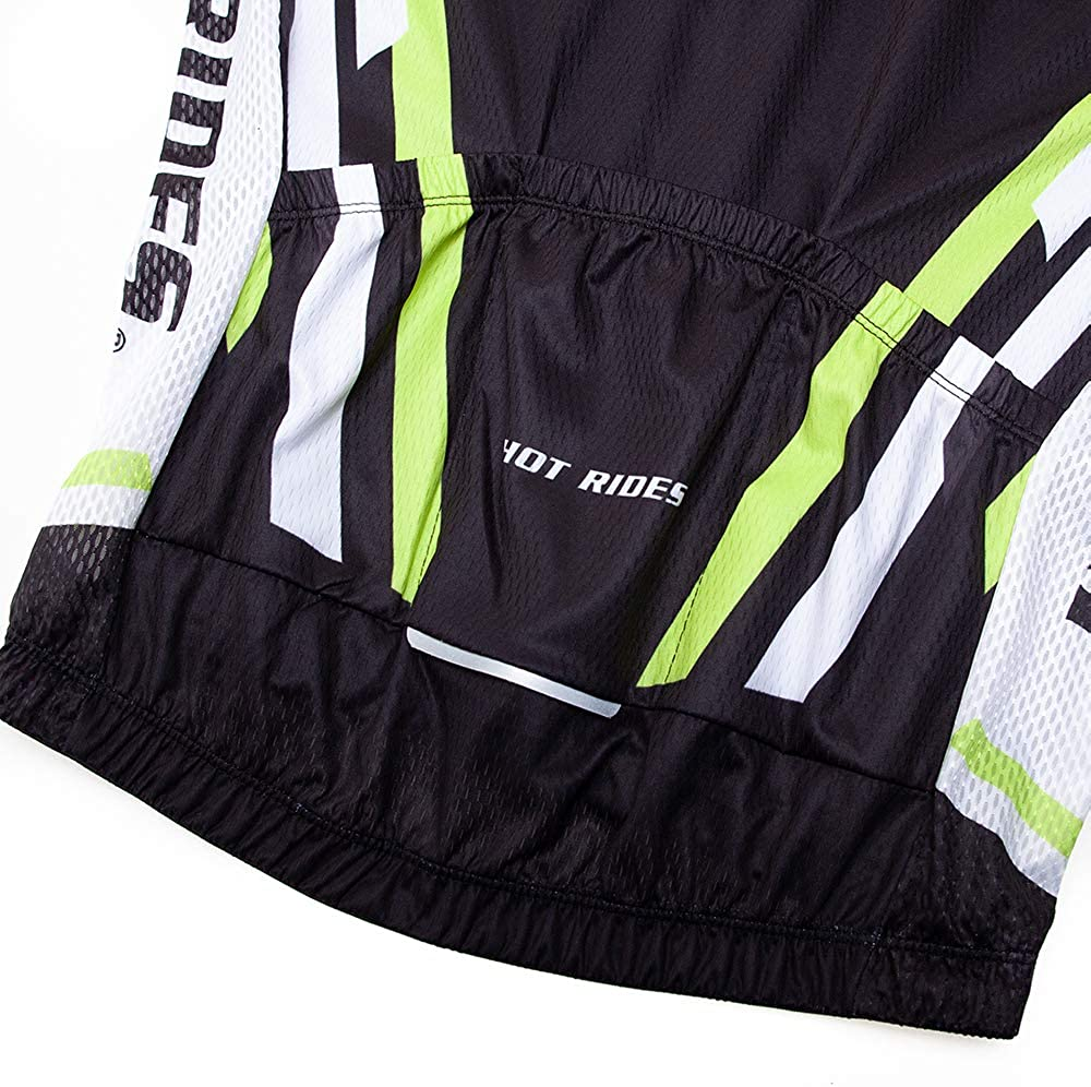 Hot Rides Mens Quick Dry Cycling Jersey and 3D Gel Padded Shorts and Bib Set