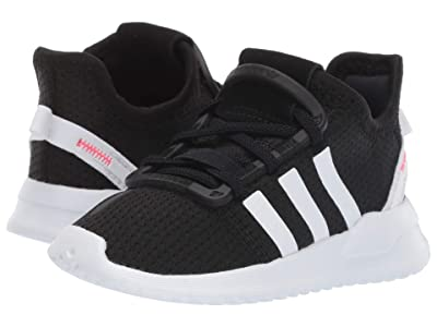 adidas Originals Kids U_Path Run EL I (Toddler) (Black/White/Shock Red) Kids Shoes