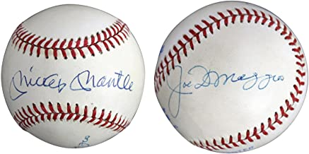 Yankees Mickey Mantle & Joe DiMaggio Signed OAL Baseball Autographed BAS #A05137 - Beckett Authentication