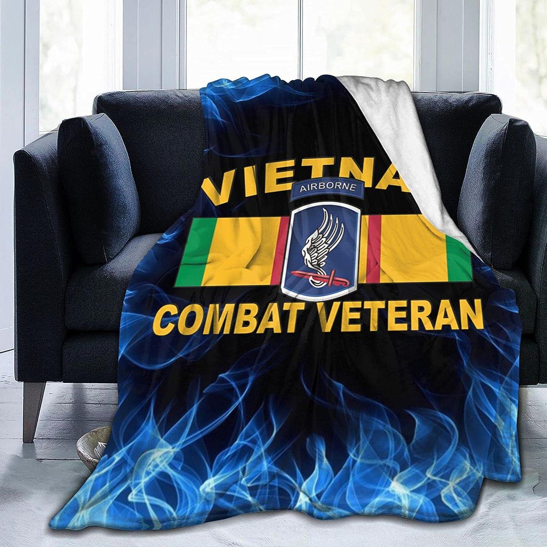 Ranking TOP6 173rd Airborne Vietnam Combat mart Veteran Printed wi Flannel Blanket