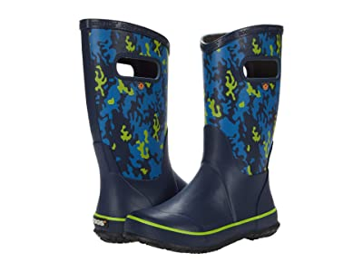 Bogs Kids Rain Boots Neo Camo (Toddler/Little Kid/Big Kid) (Navy Multi) Kids Shoes