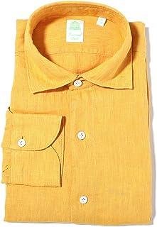 FINAMORE フィナモレ ワイドカラーシャツ/リネンシャツ/LUIGI ルイジ メンズ [並行輸入品]