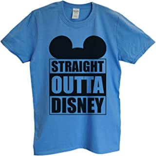 """Funny Mens Mickey Mouse T-Shirt """"Straight Outta Disney"""" Funny Disney T Shirt Gift for Dad"""