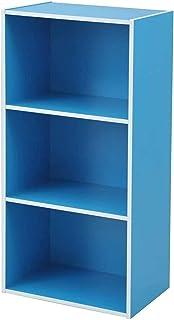 山善(YAMAZEN) カラーボックス 3段 幅42×奥行29×高さ89cm 各棚耐荷重25kg ブルー GCB-3(BL)