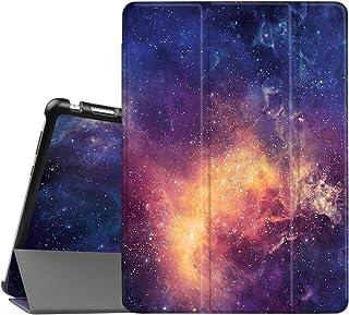 Fintie SlimShell Funda para Huawei MediaPad M3 Lite 10 - Súper Delgada y Ligera Carcasa con Función de Soporte y Auto-Reposo/Activación para 10.1 Pulgadas IPS FullHD, Galaxia
