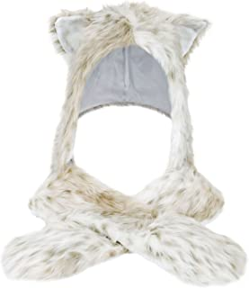 Livingston Winter Warm Plush Faux Fur Animal Paws Hat Hoods Gloves Scarf