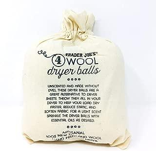 Trader Joe's Wool Dryer Balls, 4 per package.