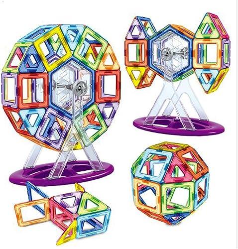 OOFAY Magnetische Bausteine Riesenrad 62 Stück Vorschulbildung Baukasten Magnetische Fliesen Set Kinderspielzeug