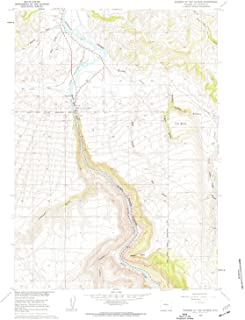 YellowMaps Wedding of The Waters WY topo map, 1:24000 Scale, 7.5 X 7.5 Minute, Historical, 1960, Updated 1962, 26.9 x 21.3 in