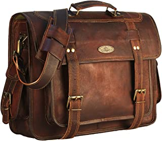 Handmade_world Leather Messenger Bag briefcases Men, Genuine Leather Laptop Bags Shoulder Crossbody Satchel Women