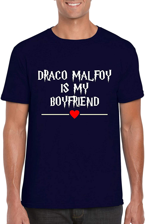 Maglietta Draco Malfoy is My Boyfriend Harry Potter Hogwarts Adventure Love Gift Unisex Top