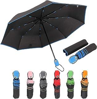 SUSINO Travel Umbrella Windproof Automatic Open Close Compact Portable Lightweight Folding Umbrella with Multiple Match Co...