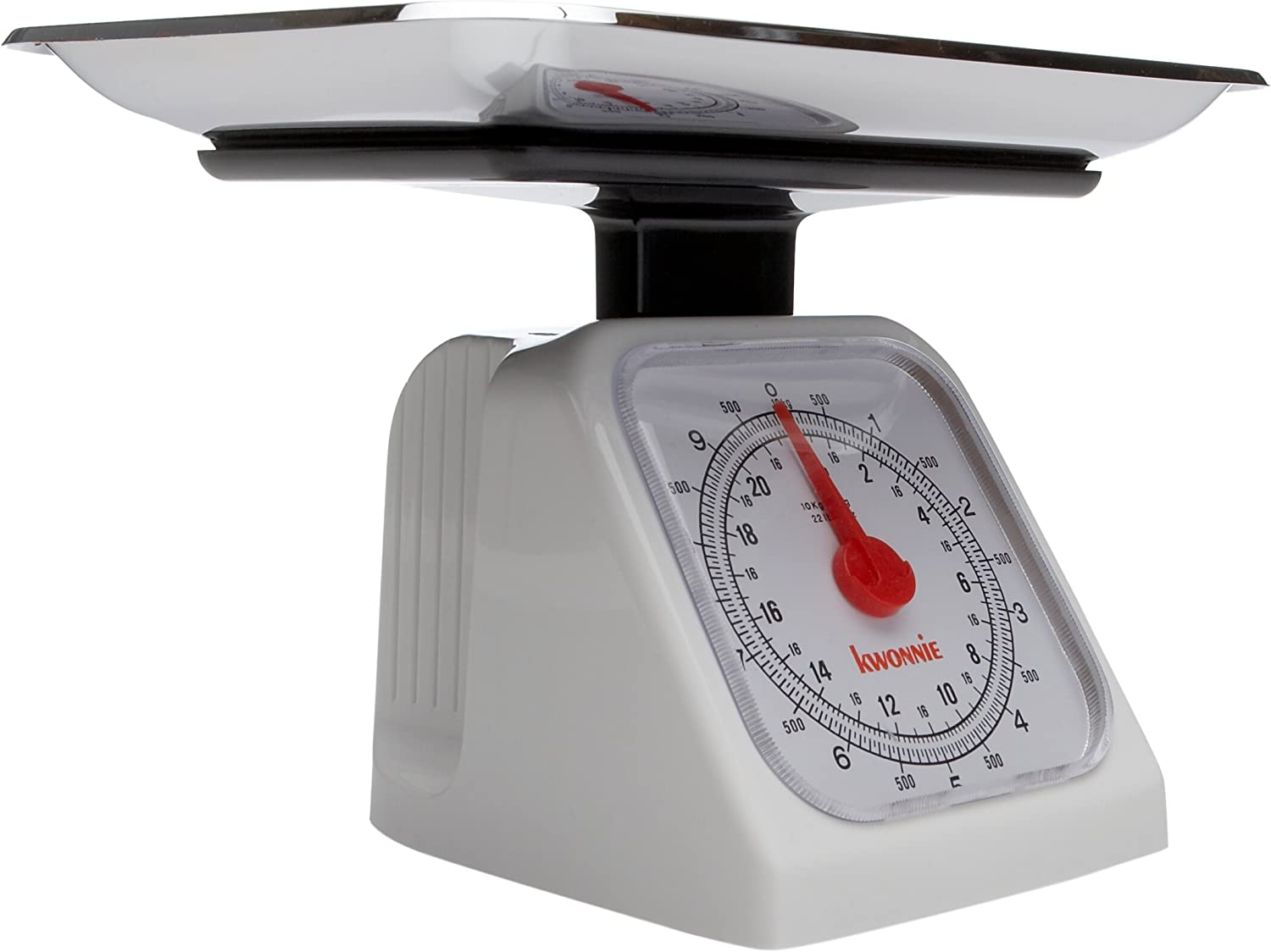 Norpro 22Lb Food Scale Removable Metal Tray, One Size, Shown