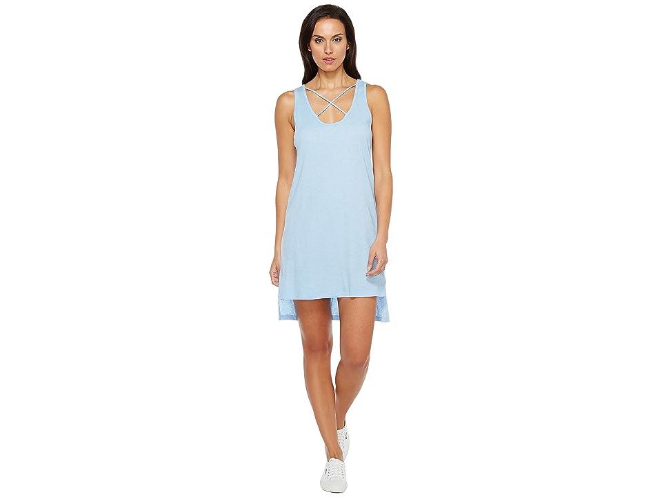 LNA Cross Strap Tank Dress (Vintage Blue) Women