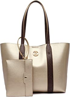 Zeneve London Alice Tote Bag Set for Women - Gold