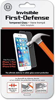Qmadix Invisible First-Defense Apple iPhone 8 Plus / 7 Plus / 6 Plus - 9H Tempered Glass Screen Protector/Shield