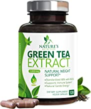 Green Tea Extract 98% Standardized Egcg for Healthy Weight Support 1000mg - Supports Healthy Heart, Metabolism & Energy with Polyphenols - Gentle Caffeine, Made in USA - 120 Capsules