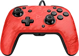 PDP 500-134-NA-CM04 Nintendo Switch Faceoff Deluxe+ Audio Wired Controller - Red Camo Nintendo Switch