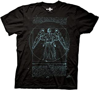 Doctor Who Adult Unisex Vitruvian Angel Heavy Weight 100% Cotton Crew T-Shirt