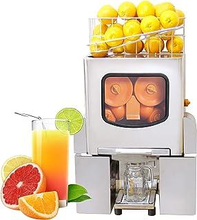 Extracteur de Jus Automatique,Extracteur de Fruits Professionnel,120W Commercial Presse Agrumes Centrifugeuse En Acier Ino...