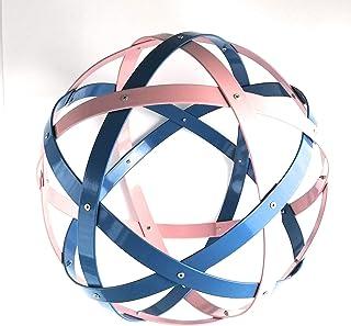 Pentasfera (genesa 6 cerchi), Purificatore energia, 32 cm diametro, FIAMME GEMELLE, colori rosa e azzurro