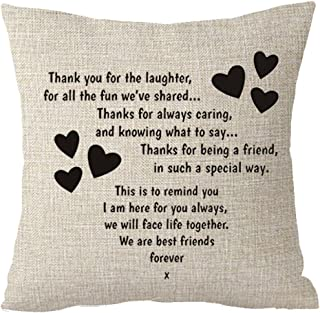 Best Gifts to Sisters we are Best Friends Forever Friends Cotton Linen Throw Pillow Case Cushion Cover Home Office Decorat...