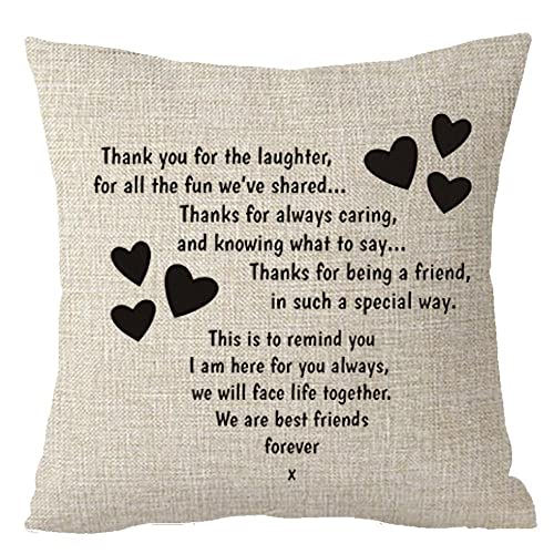 Best Gifts To Sisters We Are Friends Forever Throw Pillow Cover Cushion Case Cotton