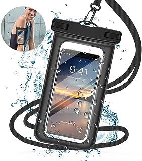強化版 完全 防水ケース スマホ用 防水携帯ケース タッチ可能 iPhone X/iPhone8 plus/iPhone 7plus/Phone6 6s Plus Android 6インチ以下全機種対応 水中撮影 海水浴 お風呂 潜水 温泉 水泳など適用