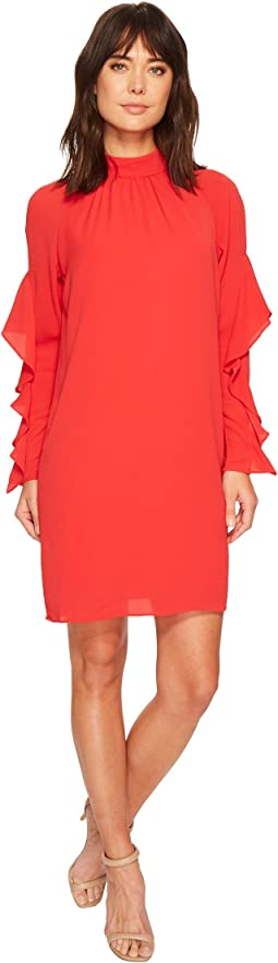 Catalina Crepe Ruffle Dress