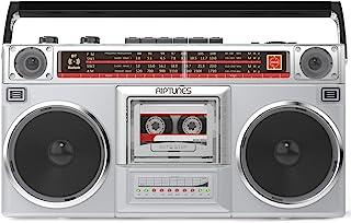 Riptunes Boombox Radio Cassette Player Recorder, AM/FM -SW1/SW2 Radio, Wireless Streaming, USB/Micro SD Slots, Aux in, Hea...