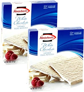 Manischewitz White Chocolate Covered Egg Matzo, Kosher For Passover, 8 Ounce Box (Pack of 2, Total of 16 Oz)