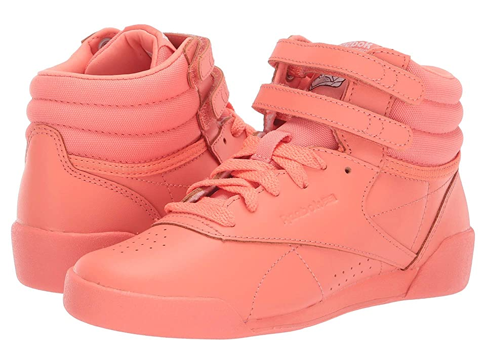 Reebok Kids F/S Hi (Toddler/Youth) (Pink/White/Peach) Girls Shoes