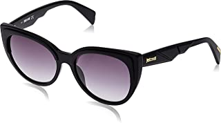 Just Cavalli 19307211 Oval Sunglasses JC836S Shiny Black / Gradient Smoke for Women - 56