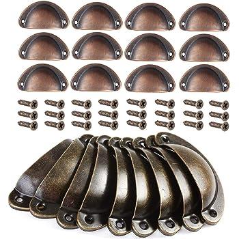 Mini Pomos Tiradores De Perillas De Los Cajones De Los Engranajes Perillas De Los Gabinetes De Cocina 7 Perillas De Los Cajones De Tocador De Color Bronce