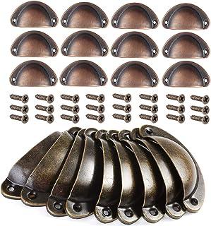 Mengger tiradores de metal muebles 24pcs pomos cocina armarios vintage Manillas Manijas para Puertas de Muebles Antiguos A...