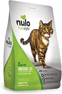 Nulo Grain Free Dry Indoor or Adult Trim Cat Food with BC30 Probiotic, Salmon or Duck & Lentils Recipe - 5 or 12 lb Bag