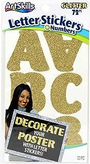 ArtSkills Gold Glitr-Poster Letters/Numbr Presentation Material (PA-3977)