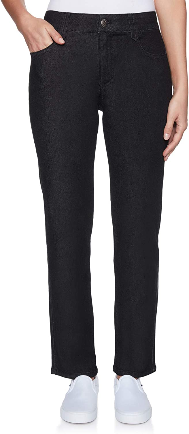 Ruby Rd. Women's Fly-Front Mid-Rise Lifting Jean