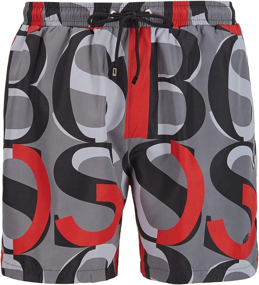 Hugo boss fanfin,  costume a pantaloncino per uomo , 100% poliestere reciclato 50445160
