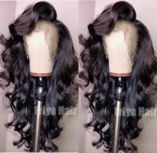 Curly Wigs Friya Lace Front Wigs Long Curly Wave Hair Heat Resistant Fiber Synthetic Wig Natural Hairline Glueless Black Loose Curly Wig With Baby Hair Wigs For Women 24 Inch
