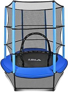 comprar comparacion LBLA Trampolín para Niños ø 140 cm Interior/Exterior Cama Elástica Redonda con Recinto, Red de Seguridad Trampolín de Jard...