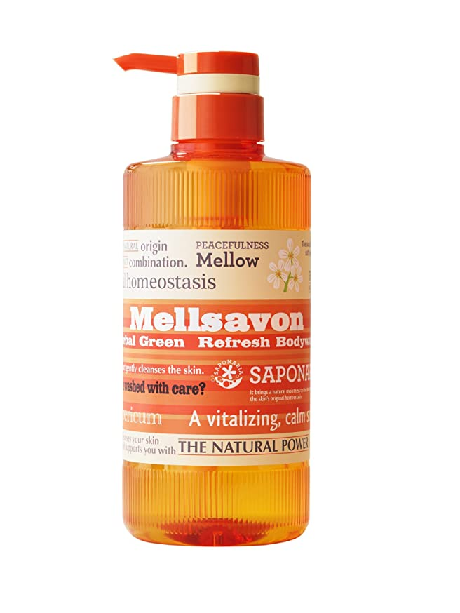 定義する意義五十Mellsavon(メルサボン) ハーバルグリーン リフレッシュボディウォッシュ 500ml