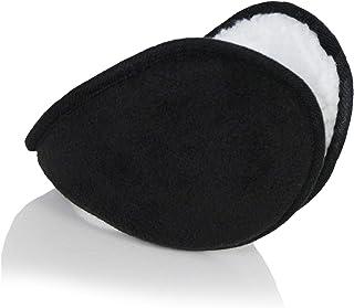 Mens Lightweight Sherpa Fleece Winter Earmuffs- Outdoor Large Oversized Soft Ear Warmers for Neck