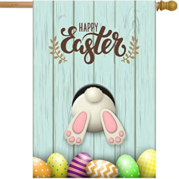 Amazon.com : Toland Home Garden Happy Easter Bunny 28 x 40 Inch ...
