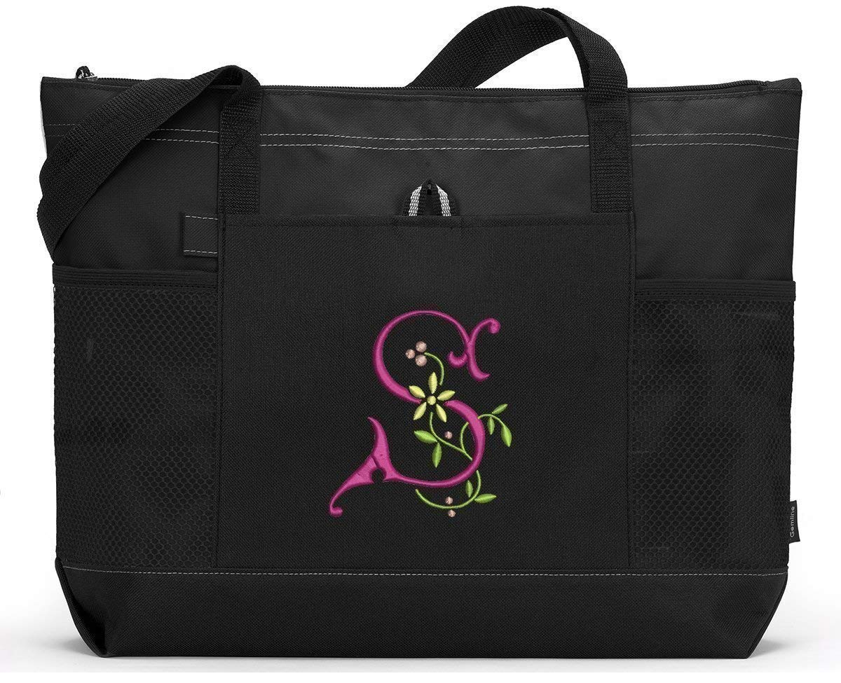 Buttercup Monogrammed Embroidered Tote Zippered Outstanding Bag Max 74% OFF