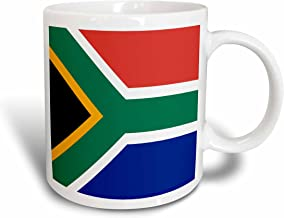 3dRose (mug_158432_1) Flag of South Africa - Colorful red green blue black white yellow multicolor African world souvenir - Ceramic Mug, 11-ounce