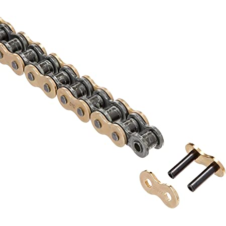 D.I.D 530VXGB-84 Gold 84-Link High Performance X-Ring Chain with Connecting Link